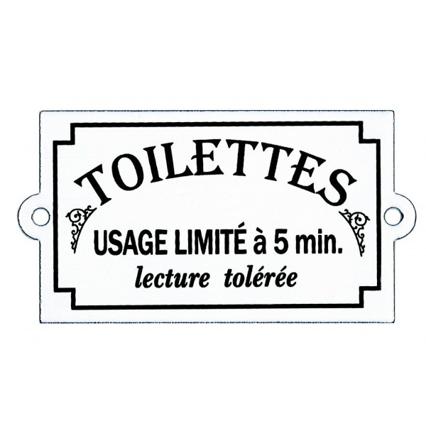 Plaque de porte maill e toilettes plaque humoristique for Plaque de porte decorative