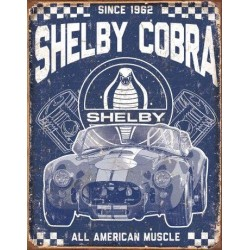 Plaque publicitaire Shelby Cobra