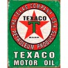 Plaque publicitaire Texaco motor oil