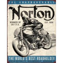 Plaque métal vintage Norton Winner