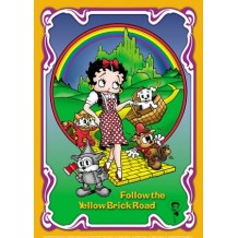 Plaque en métal Betty Boop follow the yellow brick road