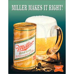 Plaque publicitaire Miller High Life