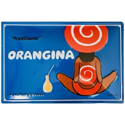 Plaque publicitaire Orangina Fruitillante