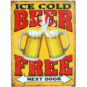 Plaque métal vintage Ice Cold Beer