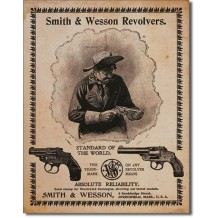 Plaque en métal vieillie Smith & Wesson Revolvers