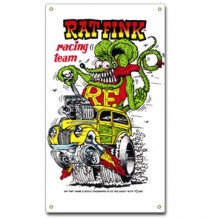Plaque en métal Rat fink racing team
