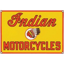 Plaque émaillée Indian motorcycle