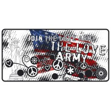 Plaque métal The love army