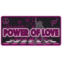 Plaque métal Power of love