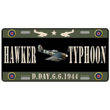 Plaque métal Hawker Typhoon 6-6-1944