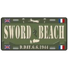 Plaque métal Sword Beach 6-6-1944