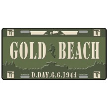Plaque métal Gold Beach 6-6-1944