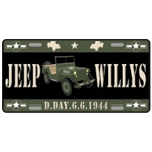 Plaque métal Jeep Willys 6-6-1944