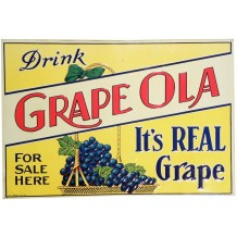 Plaque en métal soda Grape Ola