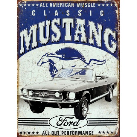 Plaque américaine Ford Mustang - Classic