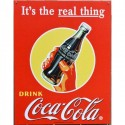 Plaque publicitaire Coca Cola Real Thing