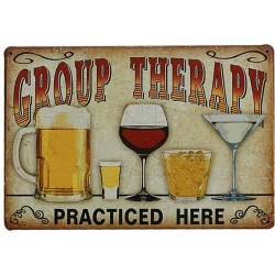 Plaque métal Group Therapy