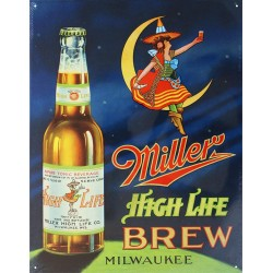 Plaque métal Miller High Life Brew